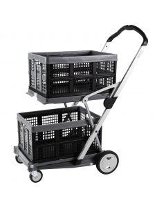 Transport-Klappmobil Clax Grey Edition Premium bestehend aus 1 Klappmobil mit 2 Clax Faltboxen