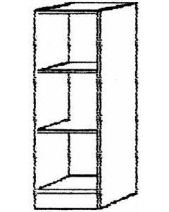 Regal 2 FB grau  40x40x127 cm