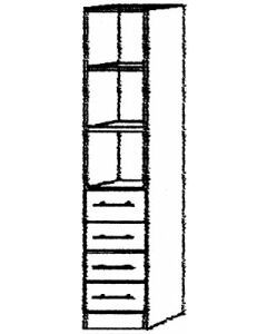 Kombiregalschrank 2 FB  grau/ Ahorn B 40cm