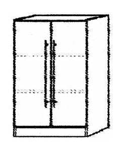 Schrank grau/ Ahorn  80x42x127 cm