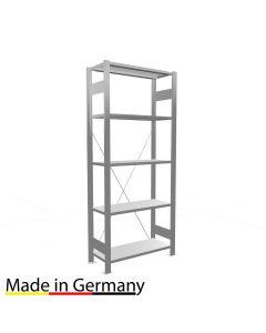 Archivregal Grundregal einseitig nutzbar ohne Anschlagsleiste Höhe 1800 Fachbreite 750 mm