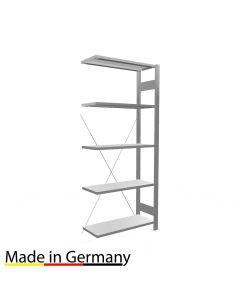 Archivregal Anbauregal einseitig nutzbar ohne Anschlagsleiste Höhe 1800 Fachbreite 750 mm