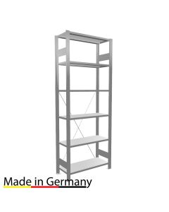 Archivregal Grundregal einseitig nutzbar ohne Anschlagsleiste Höhe 2000 Fachbreite 750 mm