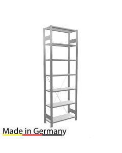 Archivregal Grundregal einseitig nutzbar ohne Anschlagsleiste Höhe 2300 Fachbreite 750 mm