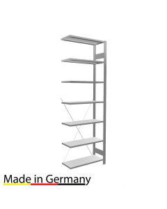 Archivregal Anbauregal einseitig nutzbar ohne Anschlagsleiste Höhe 2300 Fachbreite 750 mm
