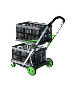 Transport-Klappmobil Clax Green Edition 1 Klappmobil mit 2 Clax Faltboxen