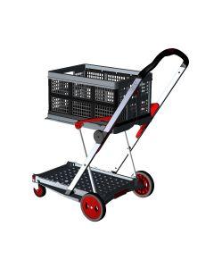 Transport-Klappmobil Clax Red Edition bestehend aus 1 Klappmobil mit 1 gratis Clax Faltbox