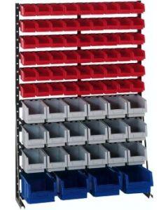 Norm-Regal-einseitig H1513xB1000 mm 76 Kästen