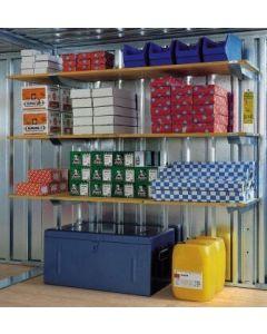 Lagerregal für Materialcontainer