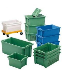 Drehstapelbehälter 66 l grün 600x400x350 mm