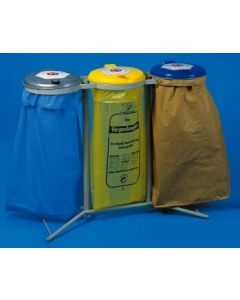 Abfallsammler 3x120 Liter verzinkt stationär H980 mm