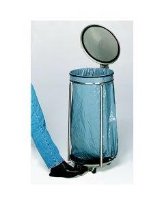 Edelstahl-Müllsackständer fahrbar mit Pedal