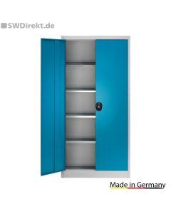 Stahlschrank HxB 1950x950 mm - Tiefe 420, 500, 600 mm, lichtblau