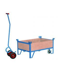 VARIOfit Rollplatte mit 4 Holzwänden und 500 kg Tragkraft
