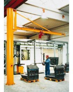 Fundamentschablone und Ankerschrauben zu Kran Typ PS 125 kg/ 250 kg/ 500 kg