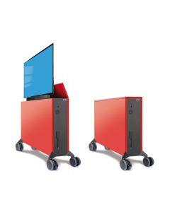 Liftboard auf Rollen inkl. 65 Zoll Flachbildschirm