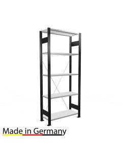 Büroregal Grundregal einseitig nutzbar mit Anschlagsleiste Höhe 1800 Fachbreite 750 mm