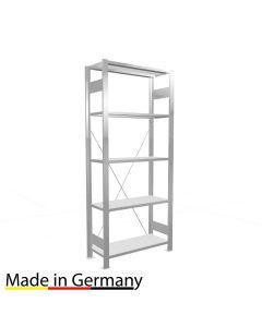 Büroregal Grundregal einseitig nutzbar mit Anschlagleiste Höhe 1800 Fachbreite 750 mm