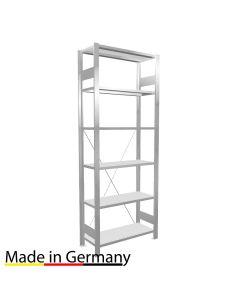 Büroregal Grundregal einseitig nutzbar mit Anschlagleiste Höhe 2000 Fachbreite 750 mm