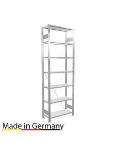 Büroregal Grundregal einseitig nutzbar mit Anschlagleiste Höhe 2300 Fachbreite 750 mm