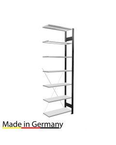 Büroregal Anbauregal einseitig nutzbar mit Anschlagsleiste Höhe 2300 Fachbreite 750 mm