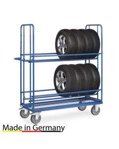 Reifenwagen 400 kg mit Drahtgitterboden