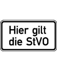"""Verkehrszeichen Nr. 3020 """"Hier gilt die StVO"""""""