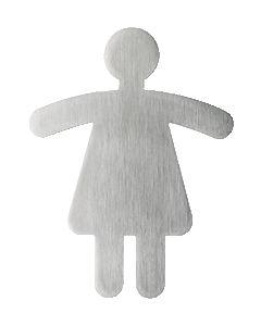 """""""WC Damen"""" Piktogramm silber"""