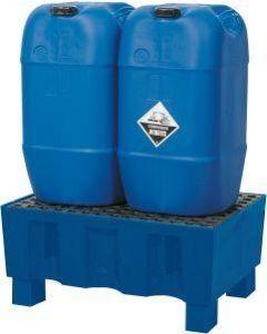Auffangpalette Kunststoff 60 Liter, mit und ohne Gitterroste, mit Sockelfüßen