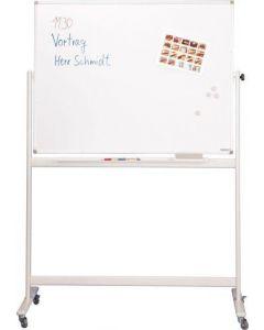 Mobiles Whiteboard emailliert/lackiert, fahrbar
