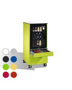 C+P Mobiler Kühlschrank Caddy mit 3 Schubladen
