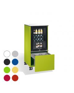 C+P Mobiler Kühlschrank Caddy mit Abfallsammler