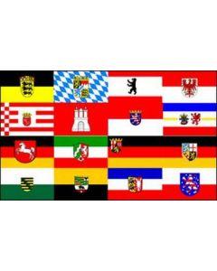 Hissflagge im Querformat 200x120cm deutsche Bundersländer