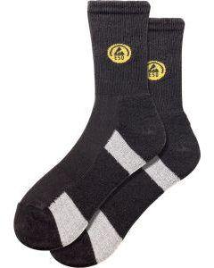 Fortis  Funktions-Socke, ESD, schwarz/grau