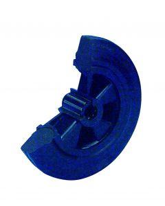 Vollgummirad auf Kunststofffelge Ø 80 mm 50 kg mit Rollenlager schwarz