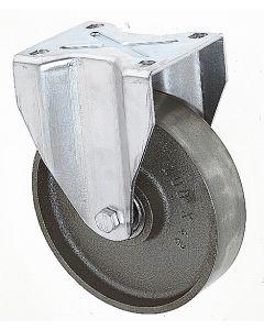 Schwerlastbockrolle mit Gussrad Ø 125 mm 400 kg