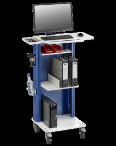 Daten/Inventurmobil 102 mit 2 Ordnerstützen und breiter Arbeitsfläche