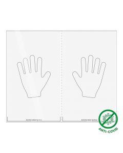 Antimikrobielle Aufkleber für Türen - 600 x 500 mm