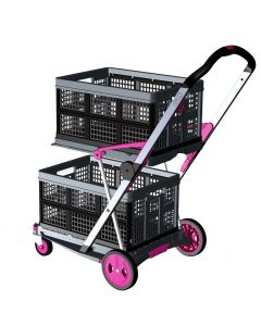 Transport-Klappmobil Clax Pink Edition Premium bestehend aus 1 Klappmobil mit 2 Clax Faltboxen