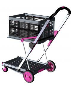 Transport-Klappmobil Clax Pink Edition bestehend aus 1 Klappmobil mit 1 gratis Clax Faltbox