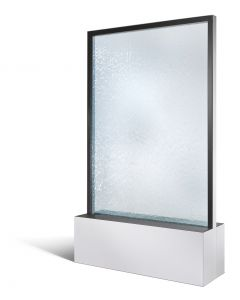 Mobile Wasserwand H 1310 mm RAL 9016 verkehrsweiß
