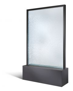 Mobile Wasserwand H 1310 mm RAL 7021 schwarzgrau