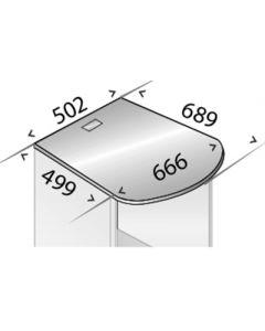 große Abdeckplatte für C+P Kühlschrank-Caddy reinweiß
