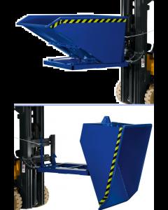 Rotherm Stapelkippcontainer mit 600 - 2000 kg Tragkraft in enzianblau oder verzinkt