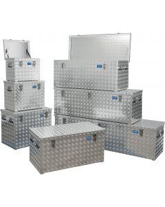 Aluminium-Transportkiste / Transportbox aus Riffelblech bis 525 Breite