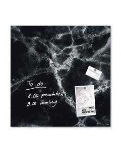 sigel Glas-Magnetboard / Magnettafel artverum® Black-Marble 48x48 cm