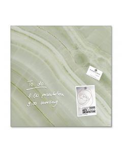 sigel Glas-Magnetboard / Magnettafel artverum® Green-Mineral 48x48 cm