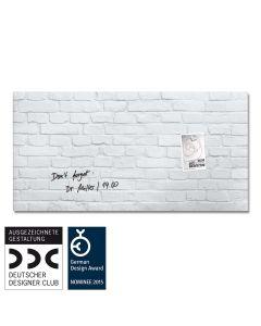 sigel Glas-Magnetboard / Magnettafel artverum® White-Klinker 91x46 cm