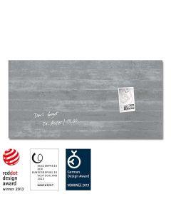 sigel Glas-Magnetboard / Magnettafel artverum® Sichtbeton 91x46 cm