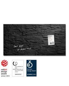 sigel Glas-Magnetboard / Magnettafel artverum® Schiefer-Stone 91x46 cm